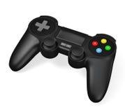 Gamepad joypad voor geïsoleerde videospelletjeconsole Stock Foto