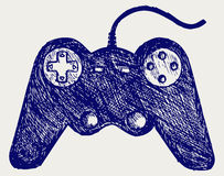 Gamepad joystick game controller Royalty Free Stock Image