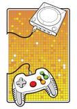 Gamepad mit Konsole Lizenzfreies Stockbild
