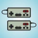 Gamepad para el consol viejo Ejemplo retro de la palanca de mando Fotos de archivo