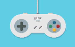 Gamepad PIXEL Art Illustration Arkivfoto