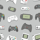 Gamepad seamless background Royalty Free Stock Images