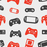 Gamepad silhouette seamless background Stock Images