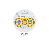 Gamepad-Spiel-Kontrolleur Button Icon Stockbilder