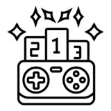 Gamepad symbolsvektor stock illustrationer
