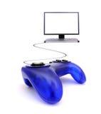 Gamepad und Computer Lizenzfreie Stockbilder