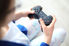 Gamepad, video gioco Fotografie Stock Libere da Diritti