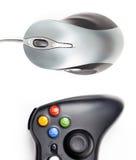 Gamepad y ratón del ordenador Imágenes de archivo libres de regalías