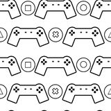 Gamepads en knopenpatroon Stock Afbeelding