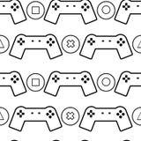 Gamepads i guzika wzór Obraz Stock