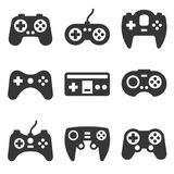 Gamepads Icon Set on White Background. Vector Stock Photos