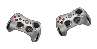 Gamepads no fundo branco Fotos de Stock Royalty Free