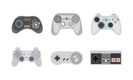 Gamepads y palancas de mando Fotos de archivo libres de regalías
