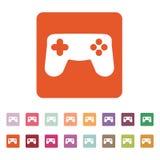 Gamepadsymbolen modigt model symbol för överdängare 3d plant Vektor Illustrationer