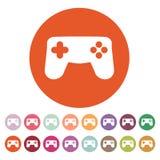 Gamepadsymbolen modigt model symbol för överdängare 3d plant Royaltyfri Illustrationer
