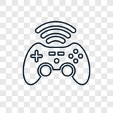 Gameplay concept vector linear icon isolated on transparent back stock illustration