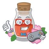 Gamer поднял масло семени форма мультфильма бесплатная иллюстрация