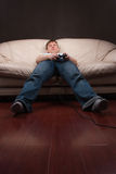 gamer ленивое Стоковая Фотография RF