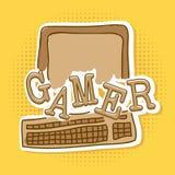 Gamer. Design over dotted background vector illustration Stock Photos