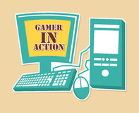 Gamer in action Royalty Free Stock Photo