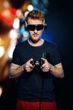Gamer appassionato Fotografie Stock Libere da Diritti