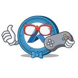 Gamer Ardor coin mascot cartoon. Vector illustration Stock Image