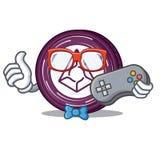 Gamer Augur coin mascot cartoon. Vector illustration Royalty Free Stock Photography