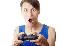 Gamer d'ordinateur Photo stock