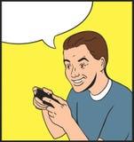 Gamer da pessoa Imagem de Stock