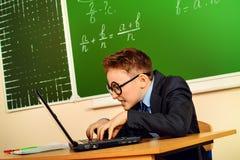 Gamer del computer portatile Immagine Stock Libera da Diritti