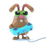 gamer del coniglietto 3d Fotografia Stock