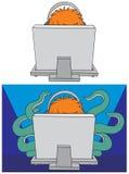Gamer del ordenador libre illustration