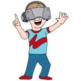 Gamer del video di realtà virtuale Fotografia Stock Libera da Diritti