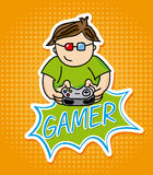 Gamer design Royalty Free Stock Image