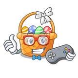 Gamer Easter kosza miniatura kształt maskotka royalty ilustracja