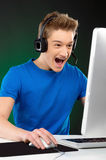 Gamer. Royalty Free Stock Photo