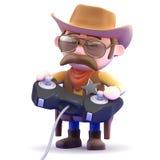 gamer för cowboy 3d Fotografering för Bildbyråer