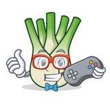 Gamer fennel mascot cartoon style. Vector illustration Stock Photo