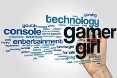 Gamer girl word cloud Royalty Free Stock Photos