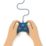 Gamer holding gamepad Royalty Free Stock Image