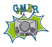 Gamer icon Royalty Free Stock Images