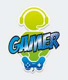 Gamer icon Royalty Free Stock Image