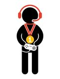 Gamer icon Royalty Free Stock Photography