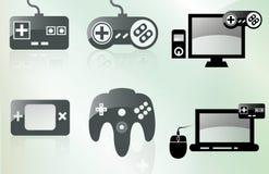 Gamer ikony Obraz Royalty Free