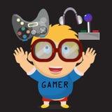 Gamer kid. boy character -  Stock Image