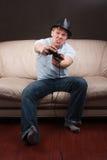 Gamer loco Imagen de archivo libre de regalías