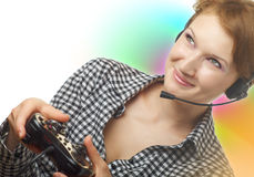 Gamer Mädchen Stockbilder