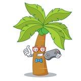 Gamer palm tree character cartoon Royalty Free Stock Photos