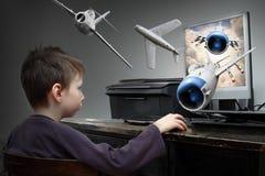 gamer piccolo Fotografia Stock
