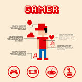 Gamer pixel Stock Photos